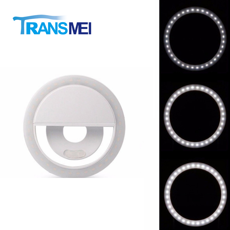 Selfie Phone Clip-on 28 LEDs Ring Light Three color